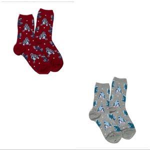 Vera Bradley Sock Bundle-NWT-TWO Owl Themed Pairs